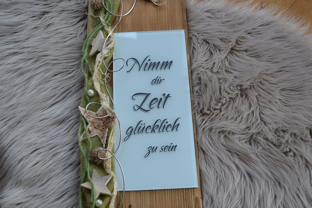 deko t rschild rustikal holz glas hausspruch spruch gr n schild geschenk ebay. Black Bedroom Furniture Sets. Home Design Ideas
